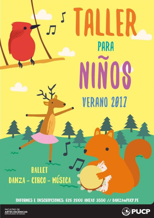 Taller para ni os verano 2017 pucp facultad de artes - El taller de pinero ...