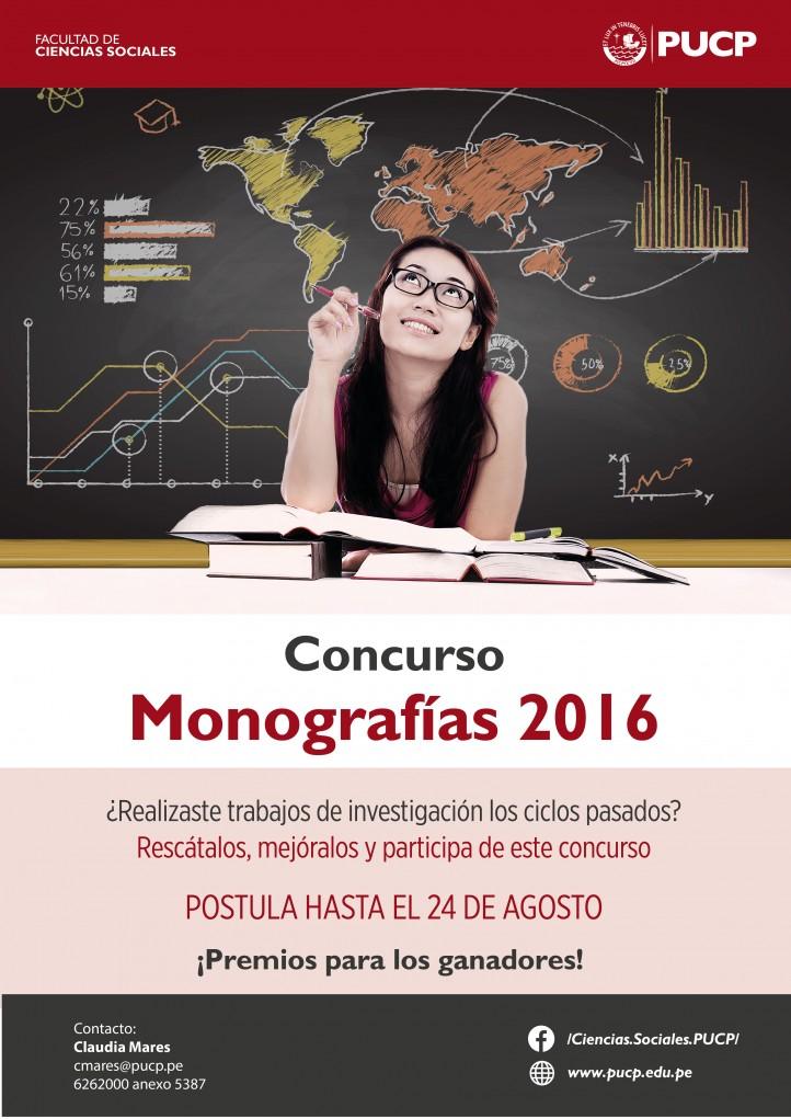 concurso de monograf as 2016 facultad de ciencias sociales